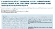Estudo Comparativo de Brocas Convencionais e Novo Modelo de Baixa Rotação na Preparação do Leito Cirúrgico em Blocos Ósseos para Instalação de Implantes Dentários